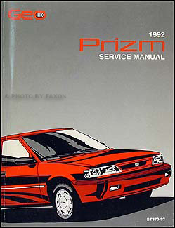 1992 Geo Prizm Repair Manual Original