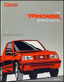 1992 Geo Tracker Repair Manual Original