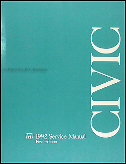 1992 Honda Civic Repair Manual Original