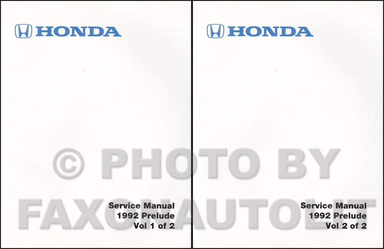1992 Honda Prelude Repair Manual Original