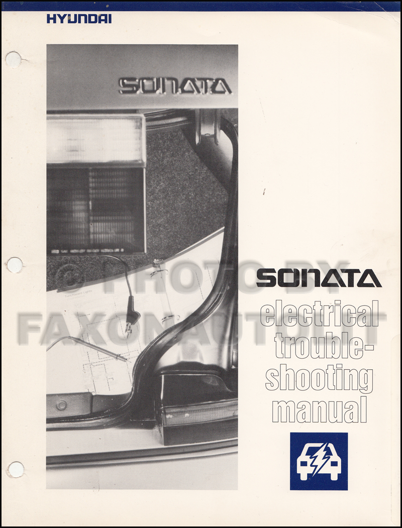 1992 Hyundai Sonata Electrical Troubleshooting Manual Original
