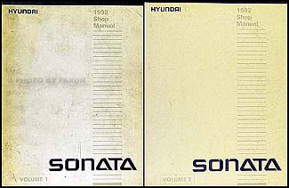 1992 Hyundai Sonata Shop Manual Original 2 Volume Set