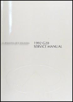 1992 Infiniti G20 Repair Manual Original