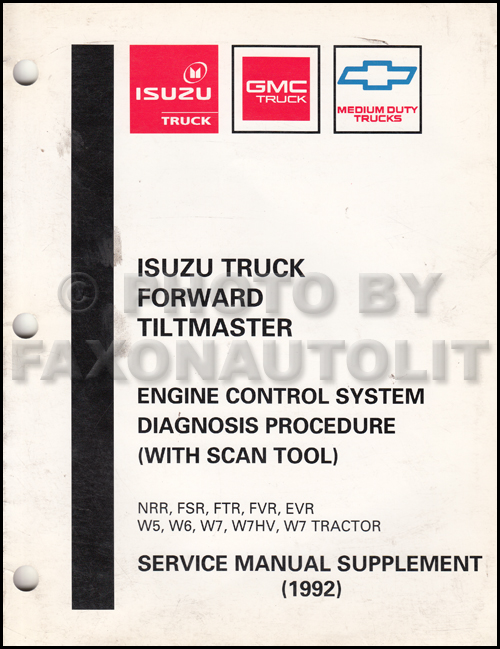 2000 FRR & W5 Tiltmaster Repair Manual Original Supplement