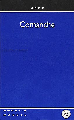 1992 Jeep Comanche Owner's Manual Original