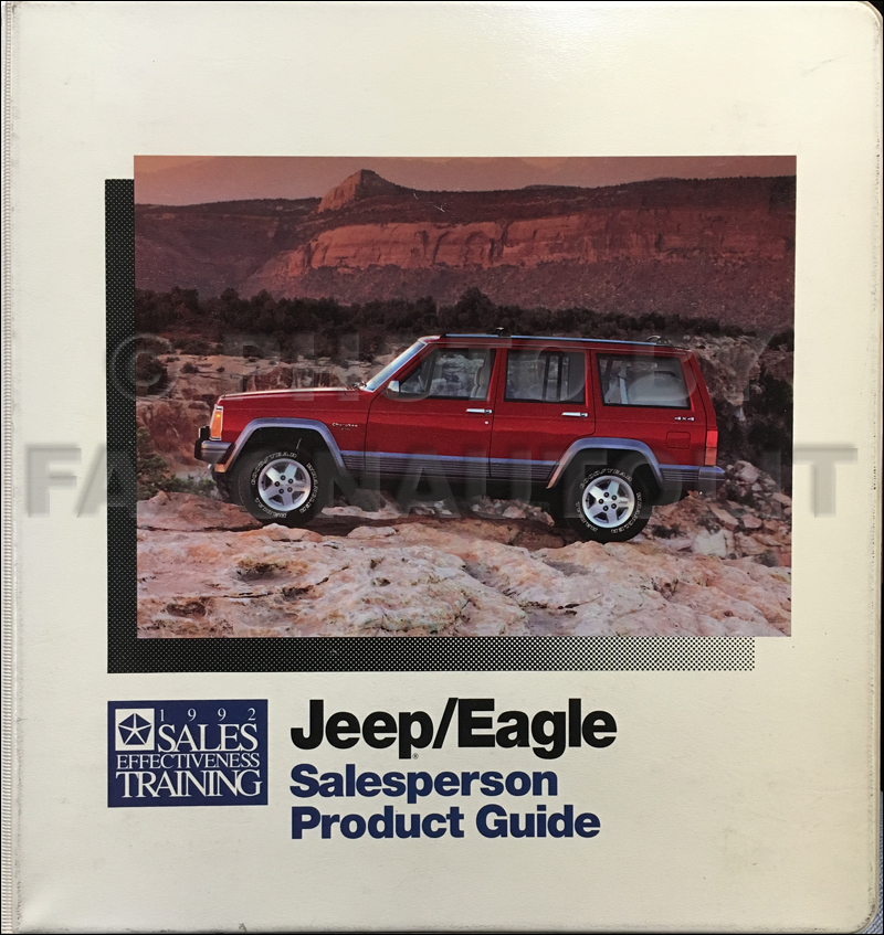 1992 Jeep and Eagle Salesperson Product Guide Original