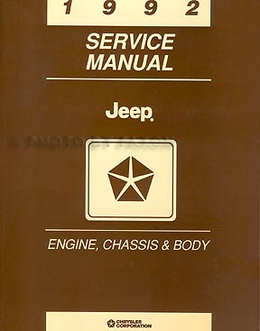 1992 Jeep Repair Shop Manual Set Original Comanche Cherokee Wrangler