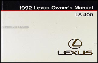 1992 Lexus LS 400 Owners Manual Original