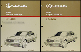 1992 Lexus LS 400 Repair Shop Manual Original 2 Volume Set
