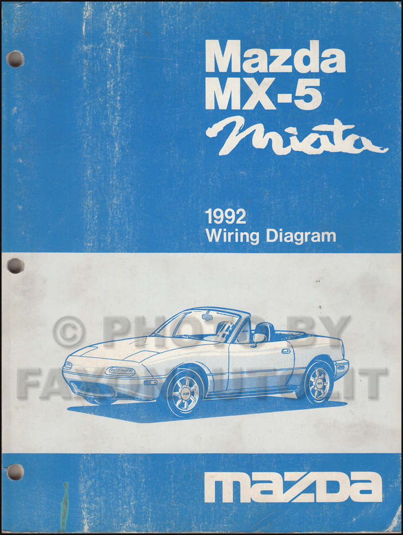 1992 Mazda MX-5 Miata Wiring Diagram Manual Original