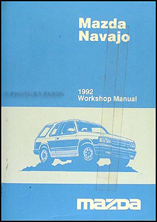 1992 Mazda Navajo Repair Manual Original