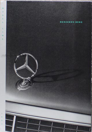 1992 Mercedes-Benz Sales Poster Original--All Models