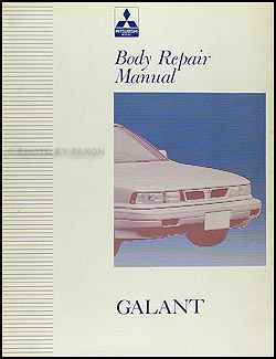 1992 Mitsubishi Galant Body Manual Original