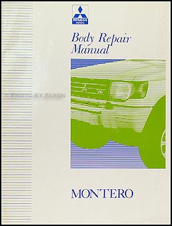 1992-2000 Mitsubishi Montero Body Manual Original
