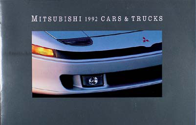 1992 Mitsubishi Original Sales Catalog 92 3000GT/Eclipse/Montero