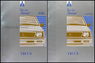 1992 Mitsubishi Truck Repair Manual Set Original