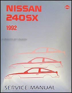 1992 Nissan 240SX Repair Shop Manual Original