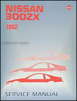 1992 Nissan 300ZX Repair Manual Original