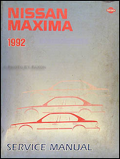 1992 Nissan Maxima Repair Manual Original