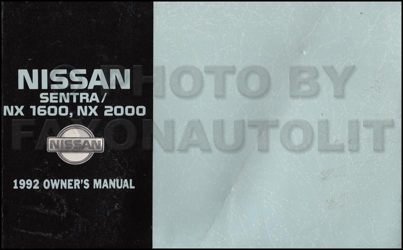1992 Nissan Sentra  U0026 Nx 1600  2000 Wiring Diagram Manual Original