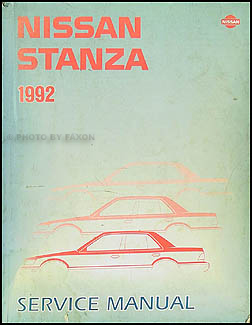 1992 Nissan Stanza Repair Manual Original