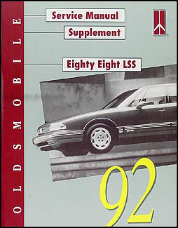 1992 Oldsmobile 88 LSS Original Repair Manual Supplement