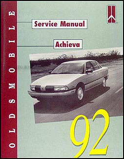 1992 Oldsmobile Achieva Shop Manual Original