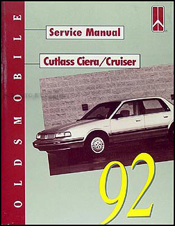1992 Oldsmobile Cutlass Ciera & Cutlass Cruiser Repair Manual Original