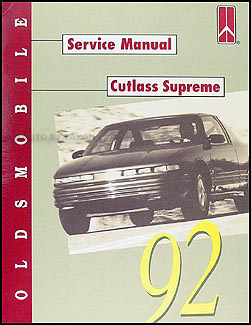 1992 Oldsmobile Cutlass Supreme Repair Manual Original