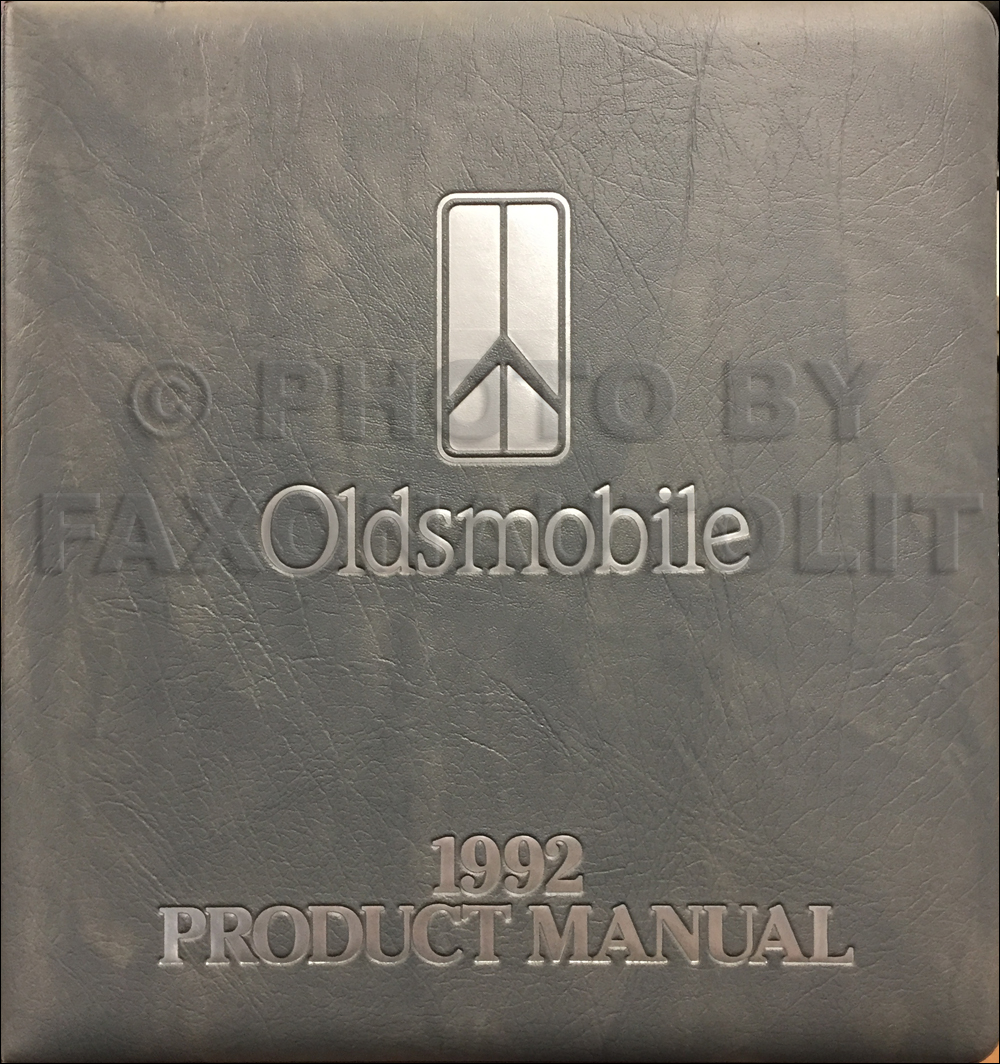 1992 Oldsmobile Color & Upholstery Album/Data Book Original CANADIAN