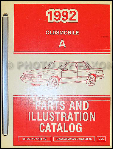 1992 Oldsmobile Cutlass Ciera and Cutlass Cruiser Parts Book Original