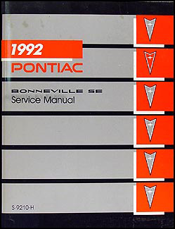 1992 Pontiac Bonneville SE Repair Manual Original