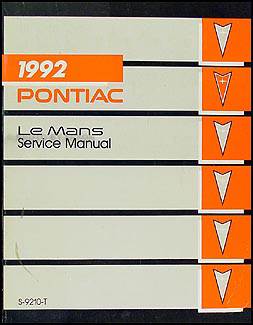 1992 Pontiac LeMans Repair Manual Original