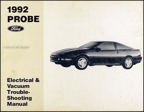 1992 Ford Probe Original Electrical & Vacuum Troubleshooting Manual