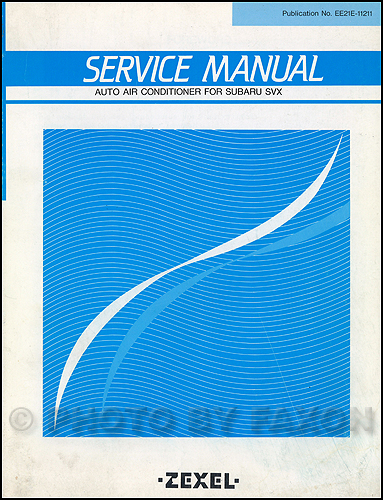 1985 Subaru A/C Repair Manual Original Supplement