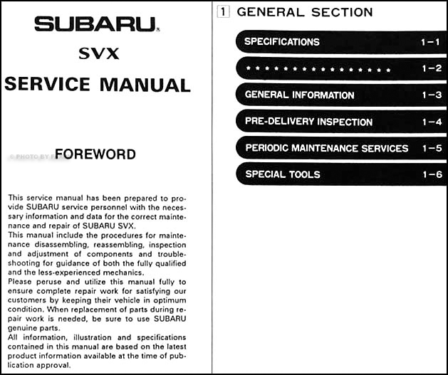 Table Of Contents Page 1: 1992 Subaru Svx Engine Diagram At Mazhai.net