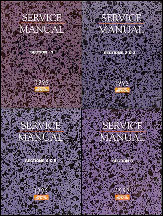 1992 Subaru SVX Repair Manual Original 6 Sections/4 Book Set