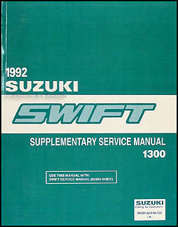 1992 Suzuki Swift 1300 Repair Manual Supplement Original