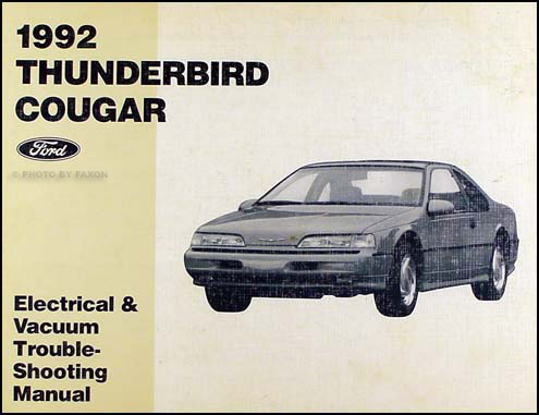 1992 Ford Thunderbird Mercury Cougar Electrical Troubleshooting Manual