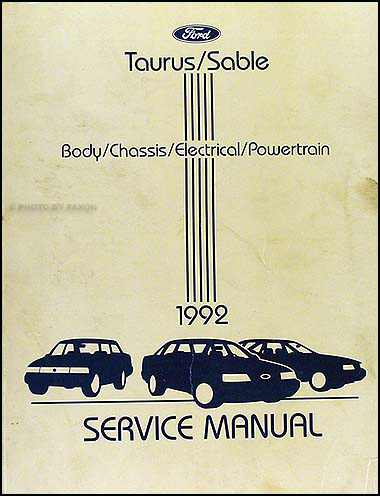 1992 Ford Taurus & Mercury Sable Shop Manual Original