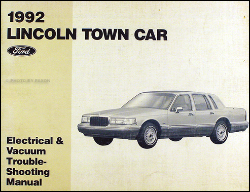 1992 lincoln town car electrical and vacuum troubleshooting manual 2003 Lincoln Town Car Wiring Diagram