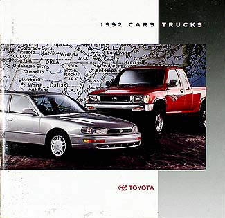 1992 Toyota Original Sales Catalog