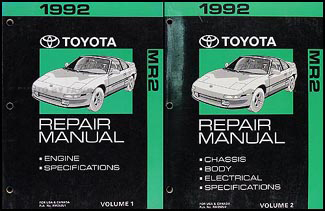 1992 Toyota MR2 Repair Manual Original 2 Volume Set