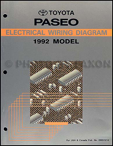 1992 toyota paseo wiring diagram manual original 1992 Jeep Wrangler Wiring Diagram