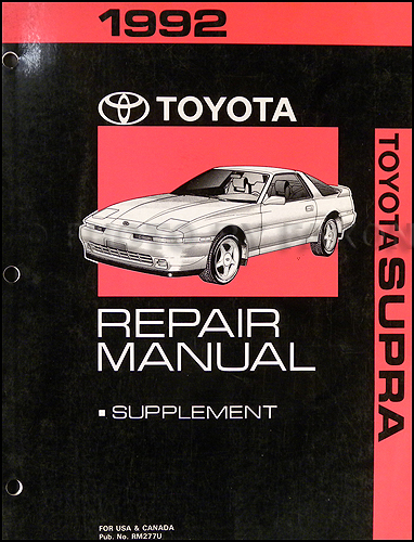 1992 Toyota Supra Wiring Diagram Manual Original