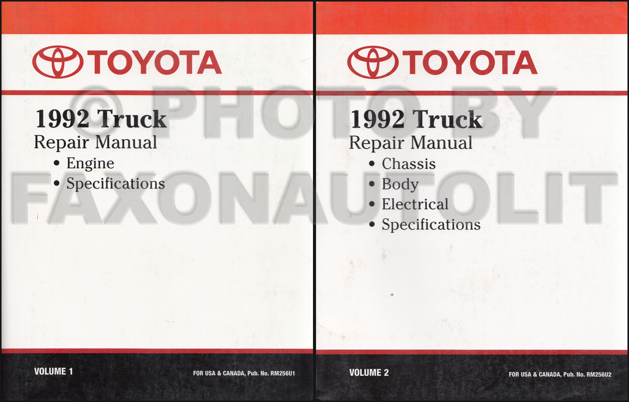 1992 Toyota Truck Repair Manual 2 Vol. Set Original