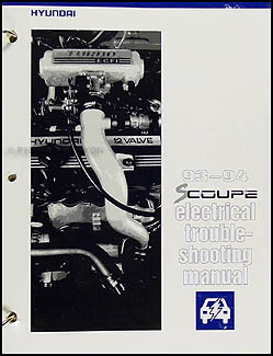 1993-1994 Hyundai Scoupe Electrical Troubleshooting Manual Original