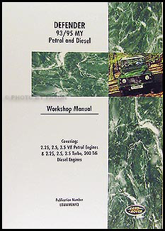 1993-1995 Land Rover Defender Repair Manual Reprint