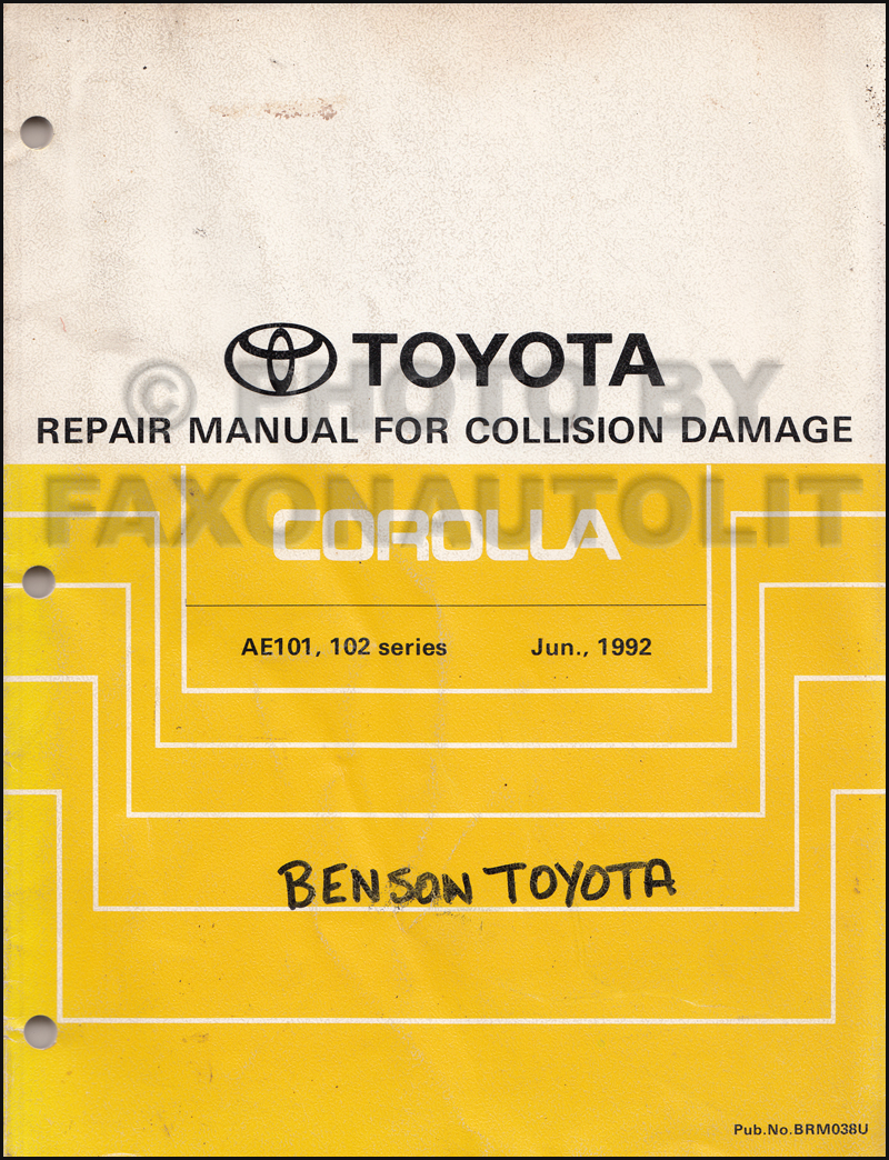 1996 toyota corolla repair shop manual original rh faxonautoliterature com toyota corolla 2002 to 2007 service repair manual toyota corolla verso 2007 service manual