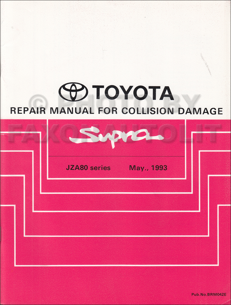 1993-1998 Toyota Supra Body Collision Manual